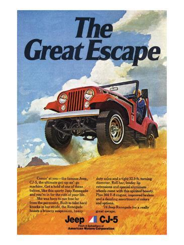 Jeep Cj 5 Renegade Greatescape Poster At Allposters Com