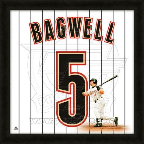 Jeff Bagwell, Astros representation of the player's jersey Framed Memorabilia