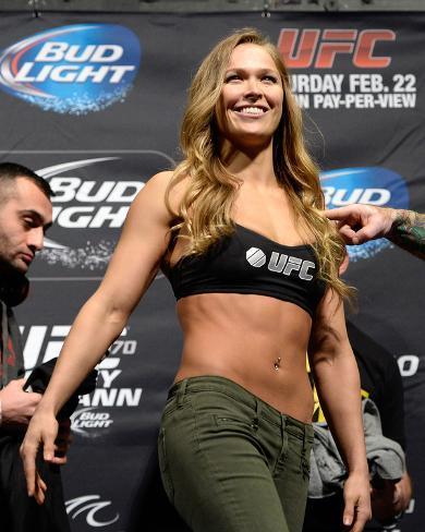 UFC 170 Weigh In: Feb 21, 2014 - Ronda Rousey vs Sara McMann Photo