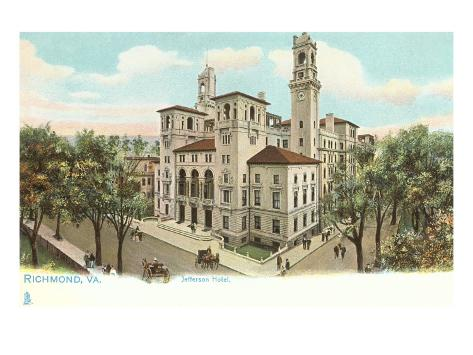 Jefferson Hotel, Richmond, Virginia Art Print