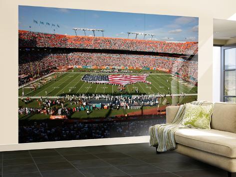 Saints Dolphins Football: Miami, FL - Sun Life Stadium Wall Mural – Large