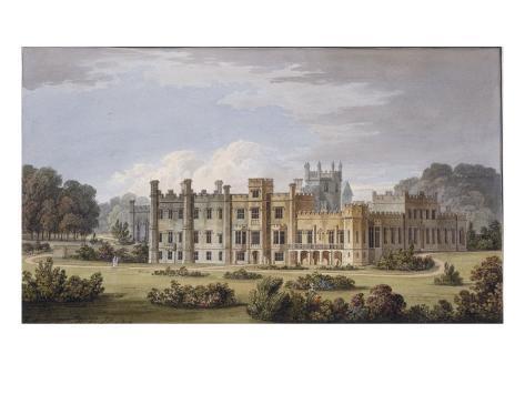 Design for Remodelling of Bulstrode Park, Buckinghamshire, 1812 Giclee Print