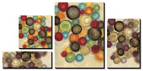 Colorful Whimsy - Circles Canvas Art Set