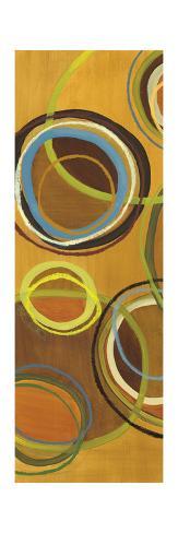 Sixteen Saturday Panel II - Yellow Circle Abstract Premium Giclee Print