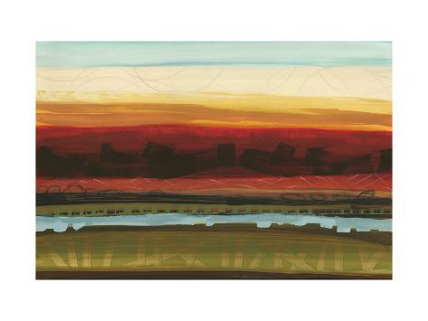 Skyline Symmetry II - Stripes, Layers Premium Giclee Print