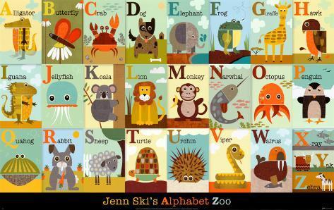 Alphabet Zoo Art Print