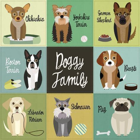 Doggy Family Art Print