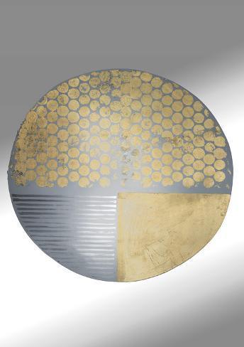Gold Orbit II Art Print
