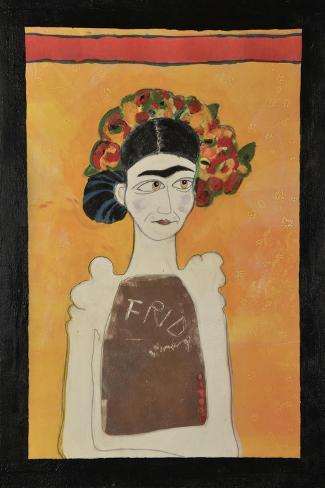 Frida Kahlo White Giclee Print