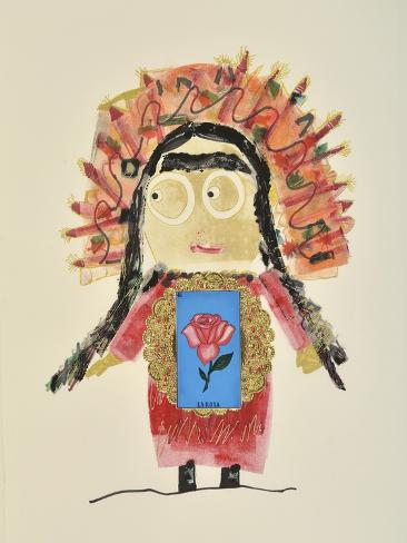 Frida Rose Giclee Print