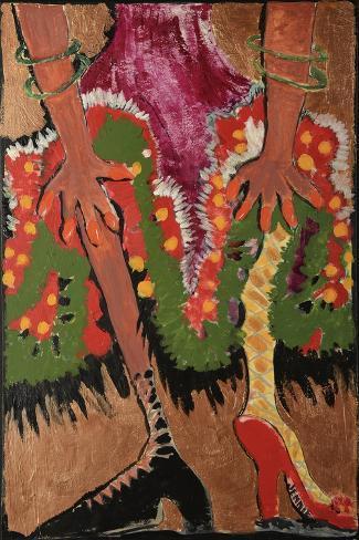 Fridas Legs Gold Giclee Print