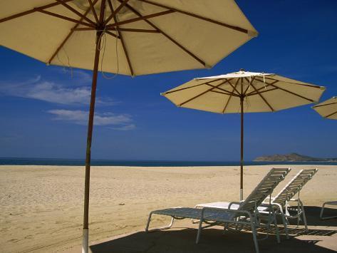 Pool Umbrella, Cabo San Lucas, Mexico Photographic Print