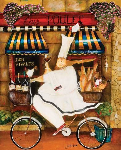 Chef in Paris Art Print
