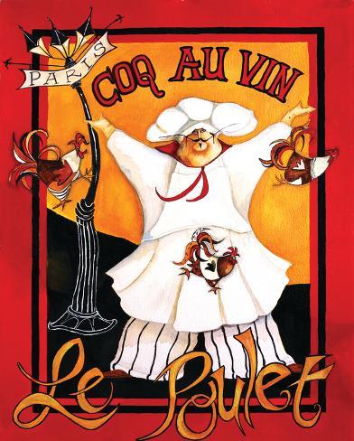 Coq Au Vin Art Print