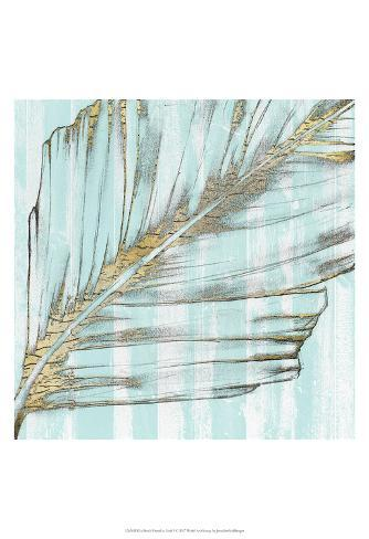Beach Frond in Gold I Art Print