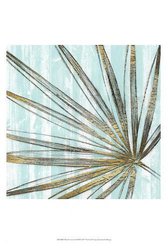 Beach Frond in Gold II Art Print
