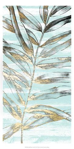 Beach Frond in Gold III Art Print