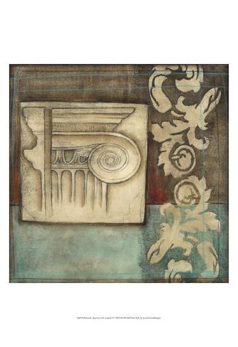 Damask Tapestry with Capital I Art Print