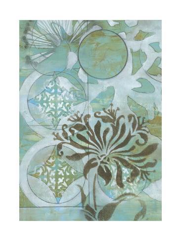 Delicate Collage I Premium Giclee Print