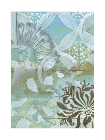 Delicate Collage II Premium Giclee Print