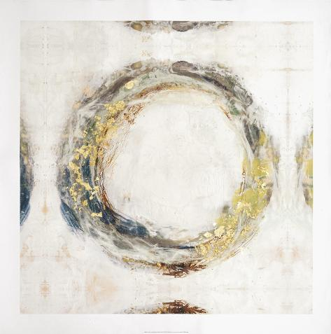 Embellished Fluid Orbit II Stretched Canvas Print
