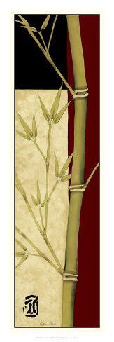 Meditative Bamboo Panel II Giclee Print