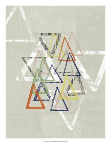 Stamped Triangles I Giclee Print