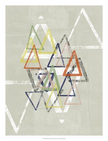 Stamped Triangles II Giclee Print