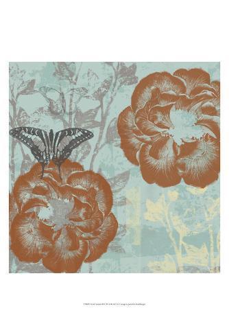 Teal Garden I Art Print