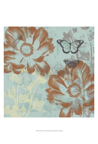 Teal Garden II Art Print