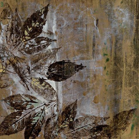 Jewelled Leaves XXI Art Print