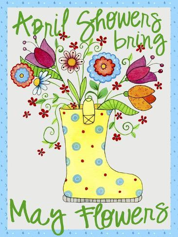 April Showers Boot Giclee Print