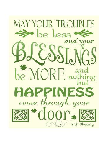 Irish Blessing Giclee Print