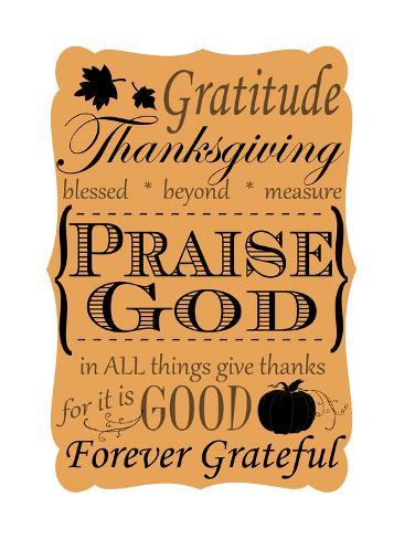 Praise God Giclee Print