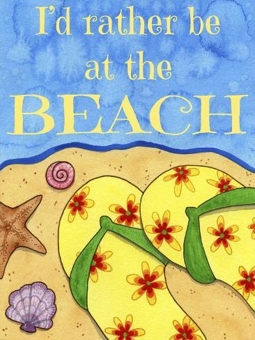 Rather Be at the Beach Giclee Print