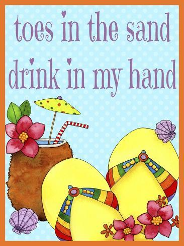 Toes in the Sand Giclee Print
