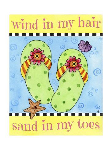 Wind in My Hair Giclee Print