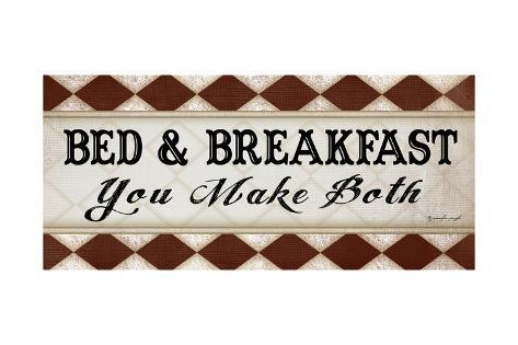 Bed and Breakfast Art Print
