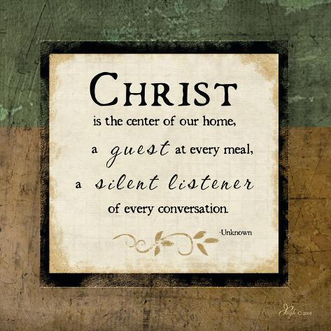 Christ Is the Center of Our Home Art Print