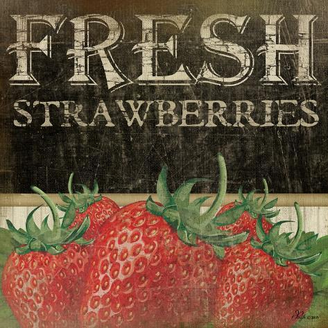 Fresh Strawberries Art Print
