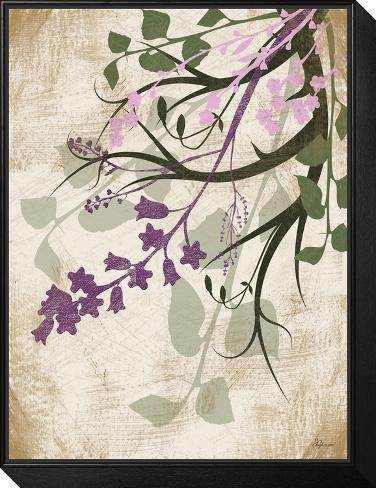 Lavender and Sage Florish II Framed Print Mount