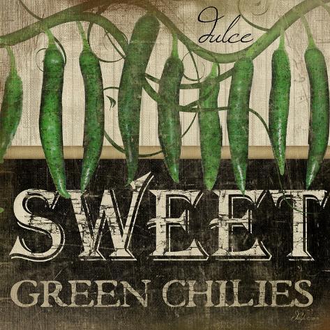 Sweet Green Chilies Art Print