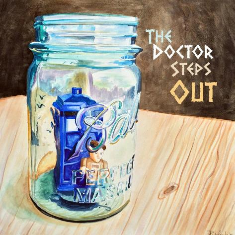 The Doctor Steps Out 2 Art Print