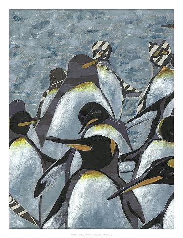 Colony of Penguins I Art Print