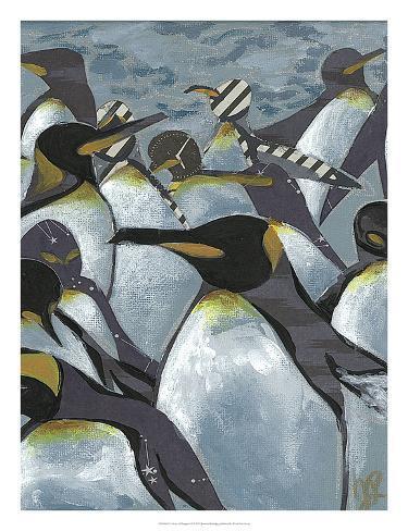 Colony of Penguins II Art Print