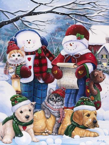 Winter Wonder Friends Giclee Print