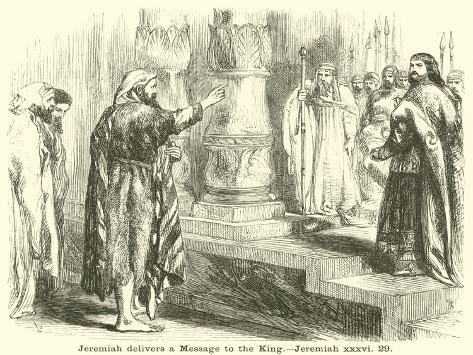 Jeremiah Delivers a Message to the King, Jeremiah, XXXVI, 29 Lámina giclée