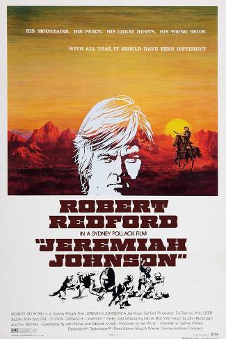 Jeremiah Johnson, Top: Robert Redford, 1972 Art Print