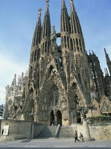 Sagrada Familia, the Gaudi Cathedral in Barcelona, Cataluna, Spain, Europe Photographic Print