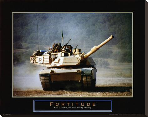 Fortitude: Tank on the Move Stretched Canvas Print